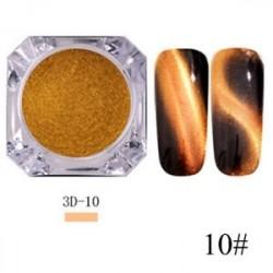 10 * - 0.5g 3D-s Cat Eye Effect Nail Art csillogó mágneses porfesték mágikus tükörpor