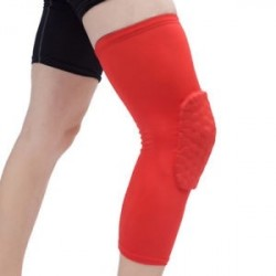 Piros-M - Antislip kosárlabda láb térdvédő Crashproof hosszú ujjú hajtómű Méhsejt pad