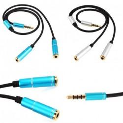 3,5 mm 1-2 Dual Y elosztó kábel Fejhallgatóhoz 1db