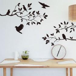 Fa madár Cserélhető Fali matrica Vinyl dekoráció