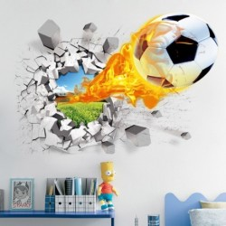 3D futball foci fali matrica Vinyl gyerekszoba