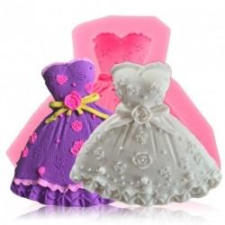 3D szép ruha forma Szilikon fondant torta díszítő