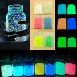 1db 10g Fluoreszkáló részecskék fénylő Pigment