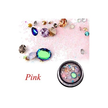 4860d92593 Rózsaszín - Színes kaméleon köröm rózsaszín kaviár mikrogyöngy labda DIY  Nail Art dekoráció