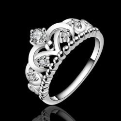 1x divatos Esküvői strasszos korona gyűrű ékszer