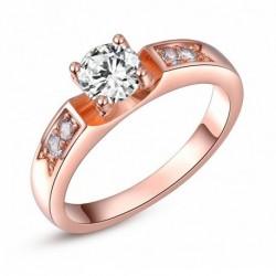 Női 18K aranybevonatú szoliter gyűrű