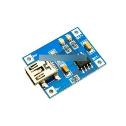 2db 5V Mini USB 1A Lithium akku töltő modul IN