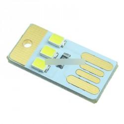 2pcs3LED lámpa izzó LED kulcstartó USB Power Fehér