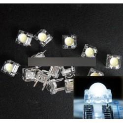 10db 5mm F5 Piranha LED fehér kerek dióda