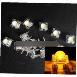 10db 5mm F5 Piranha LED Sárga kerek fej dióda