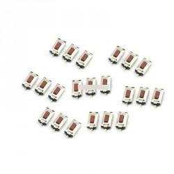 20db 3X6X2.5mm Nyomógombos  mikro kapcsoló  2 Pin