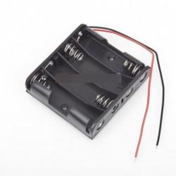 Műanyag Akkumulátor tároló tok doboz tartó 4 x AA