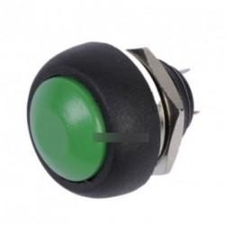 12mm Vízálló Pillanatnyi ON / OFF nyomógomb zöld