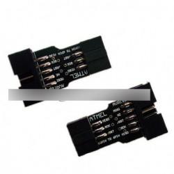2db 10 Pin - 6 Pin Adapter  F ATMEL AVRISP USBASP