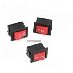 5db Red kapcsoló 2 Pin KCD1-101 250V 6A
