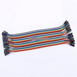 40db dupont vezeték jump kábel 20cm 2.54MM Arduino