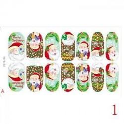1 - DIY Glow Santa Hópehely Rénszarvas Karácsonyi Köröm Art Sticker