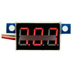 Piros LED Panel Meter Mini lítium akku voltmérő