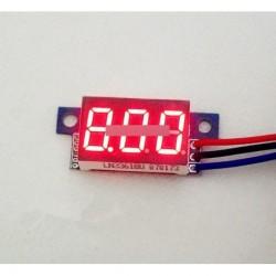 Piros LED Panel Meter digitális voltmérő DC 0-30V