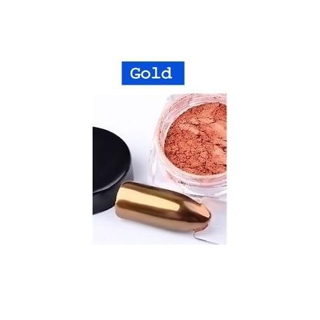 Arany - 2G Új köröm tükörporszegek Glitter krómozott por DIY Nail Art Decor 4Colors