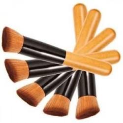 Alapozó professzionális blush kontúr arckrém smink eszköz fából készült fogantyú