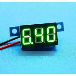 Mini lítium akku voltmérő DC 3.3V - 17V zöld LED