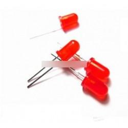 500db LED 3 mm piros piros fény dióda