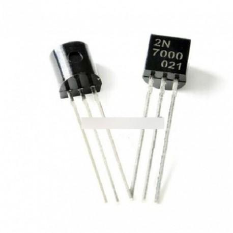 100db 2N7000 MOSFET csatornás 60 V 0,2 Amper TO-92