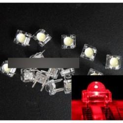100db 5mm F5 Piranha LED Piros kerek dióda