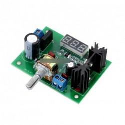 AC / DC LM317 feszültség Tápmodul LED voltmérő