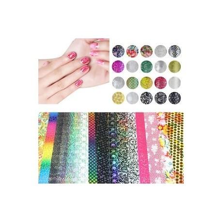 1ea502a1ee 20 db 20 * 4 cm-es vegyes transzfer fólia szögek Art Sticker Decals  Dekoráció