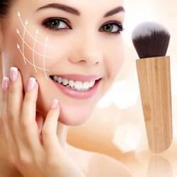 1PCS Pro bambusz fogantyú lapos kontúr blush kefe kozmetikai púder smink készlet eszköz