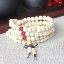 49 - Stretchable arany ezüst charm Buddha gyöngyös karkötő Natural Lava Stone karkötő