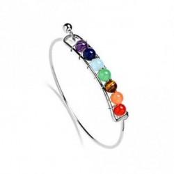 Ezüst - 7 csakra gyógyító egyensúly gyöngyök karkötő jóga élet energia karkötő női ékszerek
