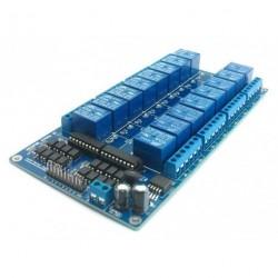 16 cs 12V relé modul optocsatoló LM2576 Táp Arduino