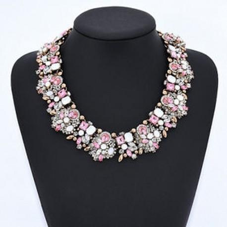 613fe0e7c8 16 - Luxus Crystal strassz medál Choker nyakörv nyaklánc Női esküvői ékszer