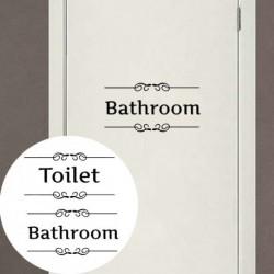 Retro WC fürdőszoba ajtó fal matrica dekoráció
