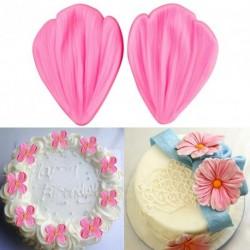 Szép levél alakú szilikon fondant sütemény forma
