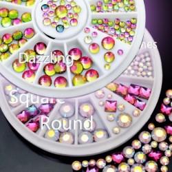 Ékszer köröm strassz csiszolt kristály manikűr R29