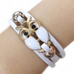 fehér - Kézzel fonott lánc Vintage aranyozott többrétegű aranyszínű aranyozott bagoly karperec karkötő