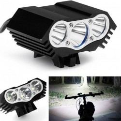 8500lm 3 x CREE T6 LED 4 üzemmód Kerékpár lámpa