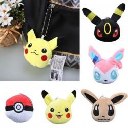 1db Plüss Pokemon Pikachu Eevee baba kulcstartó