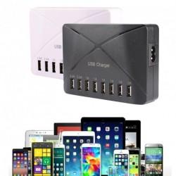 8 Portos 1A 2.4a USB Adapter mobil  töltő HUB  EU