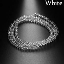 fehér - 150PCS / Pack 4mm Spacer gyöngyök Ékszer készítés medál lánc osztrák kristály