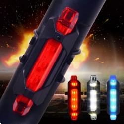 5 LED Kerékpár USB újratölthető piros lámpa