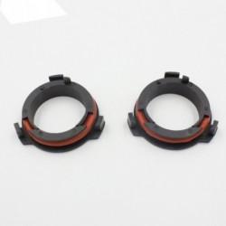 2 db LED H7 befogató adapter - Piros-Fekete