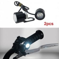 2db LED Motorkerékpár fogantyú reflektorfénylámpa vezetõfény ködlámpa fehér