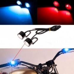 2db motorkerékpár-motorkerékpár tükör dekoratív LED fény