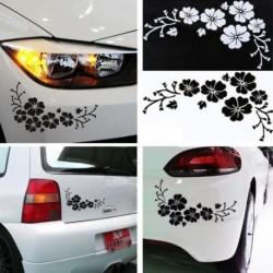1db autós matrica virág ajtó ablak Blossom Dekoráció Reflective Sticker Lökhárító