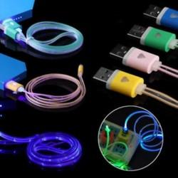 Lebegő látható LED világít UP Micro USB Data Sync töltő kábel Samsung HTC készülékhez